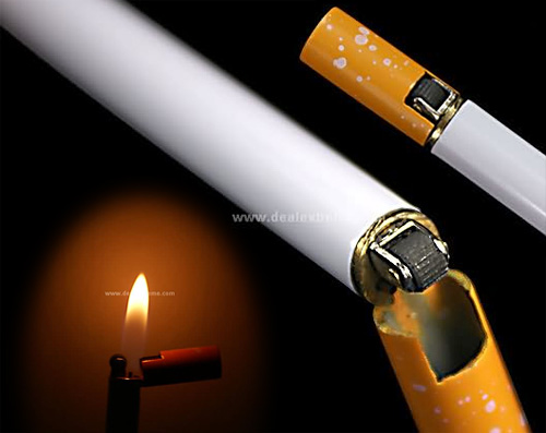 Cigarette- shaped Butane Lighter (Images courtesy DealExtreme)