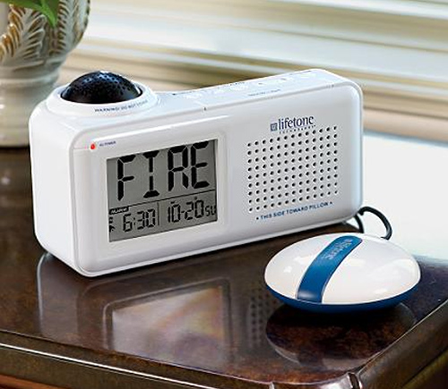 Bedside Fire Alarm And Clock (Image courtesy Frontgate)