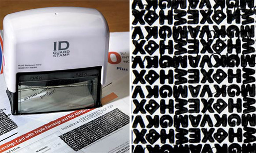 ID Guard Stamp (Images courtesy Improvements Catalog)