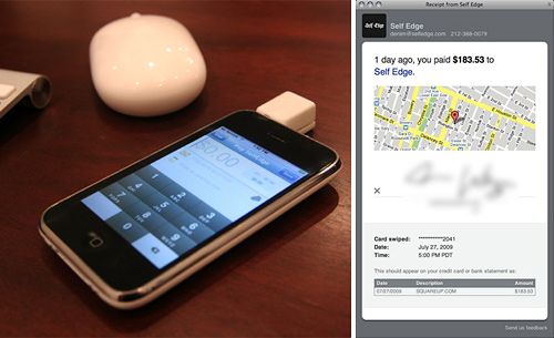 Square iPhone Payment System (Images courtesy Cool Hunting)