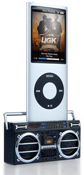 Retro Cassette Stereo Mini Speaker for iPod / iPhone (Image courtesy USBFever)