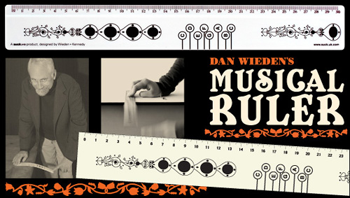 Dan Wieden's Musical Ruler (Images courtesy SUCK UK)