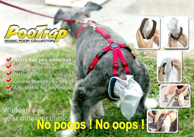 It's Not Like Your Dog Needs Dignity, Get Him The PooTrap And Never Touch Poopy Again