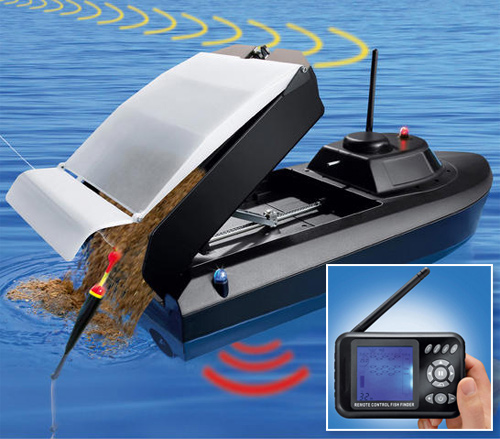 Radio-Controlled Feed Boat (Images courtesy Pro-Idee)