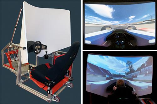 RS1 Xtreme M3 Racing Simulator (Images courtesy Texas Sim Racing Inc.)