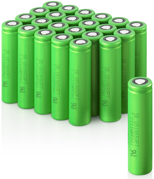 Sony Lithium Ion Secondary Batteries (Image courtesy Sony)