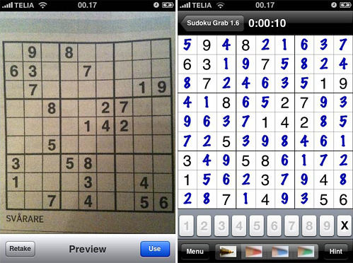 Sudoku Grab (Images courtesy Fosfor)