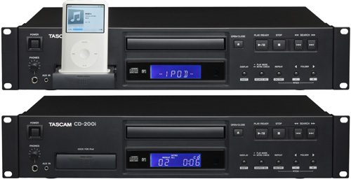 Tascam CD-200i (Images courtesy Tascam)