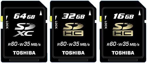 Toshiba SDXC Cards (Image courtesy Akihabara News)