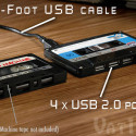 Cassette Tape 4-Port USB Hub
