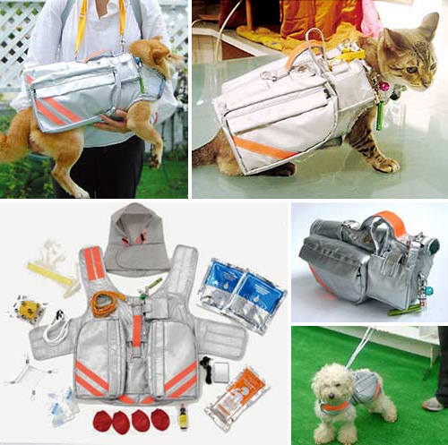 Pet Emergency Evacuation Jacket (Images courtesy the Japan Trend Shop)