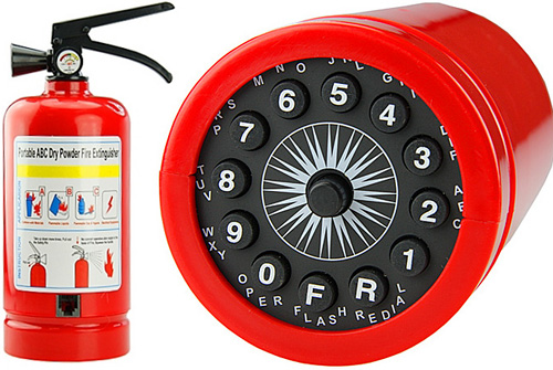 Fire Extinguisher Phone (Images courtesy Gadget4all.com)