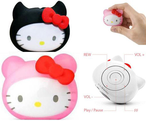 Hello Kitty MP3 Player (Images courtesy Geek Stuff 4 U)