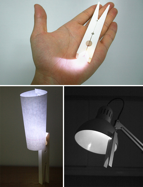 LED Clothespin (Images courtesy Sungho Lee)