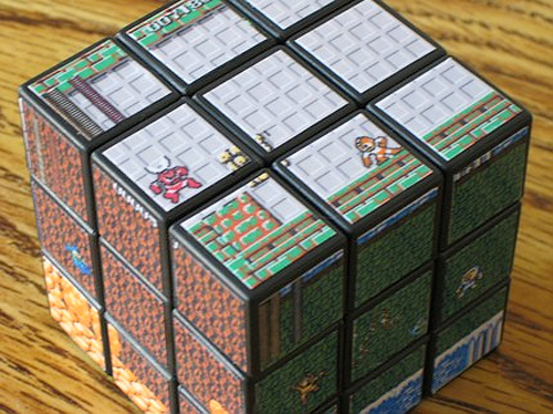 Mega Man Rubik's Cube (Image courtesy Capcom Blogs)
