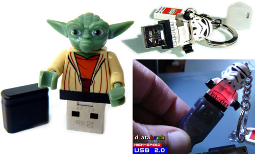 LEGO Minifig Flash Drives (Images courtesy Etsy seller 123smile)