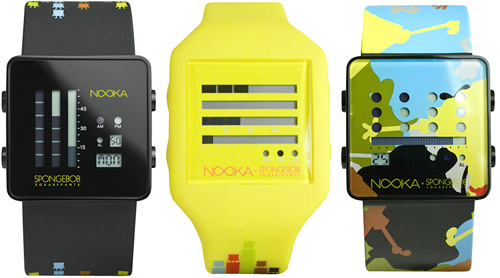 Nooka Spongebob Watches (Images courtesy Nooka)