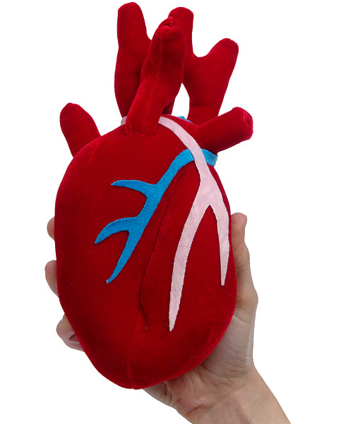 Plush Heart (Image courtesy ThinkGeek)