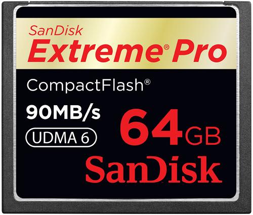 Sandisk Extreme Pro Compact Flash Card (Image courtesy Sandisk)