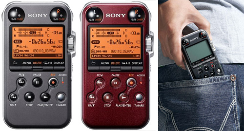 Sony PCMM10 Portable Linear PCM Recorder (Images courtesy Sony)