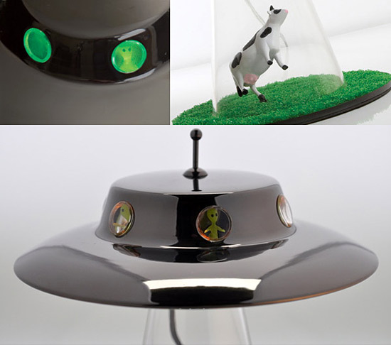 Desk Lamp UFO Alien Abduction Spaceship Bedroom Night Light Home