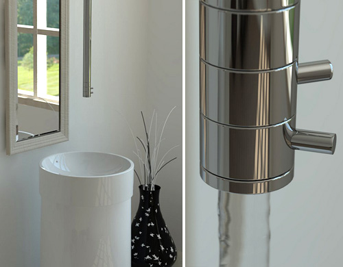 Bilo Ceiling Mounted Faucet (Images courtesy DigsDigs)