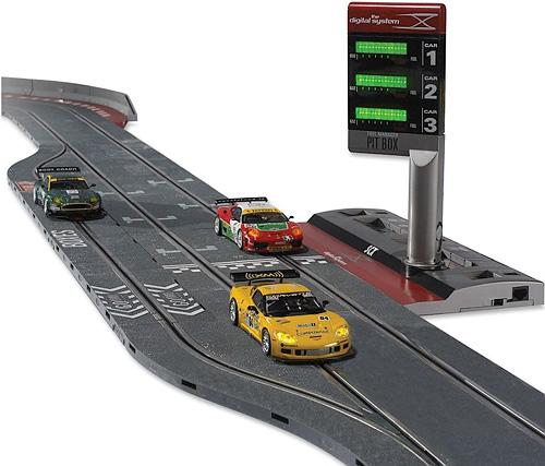 The Realistic Digital Slot Car Raceway (Image courtesy Hammacher Schlemmer)