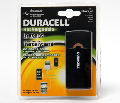 ohgizmo review duracell instant usb charger ohgizmo. Black Bedroom Furniture Sets. Home Design Ideas
