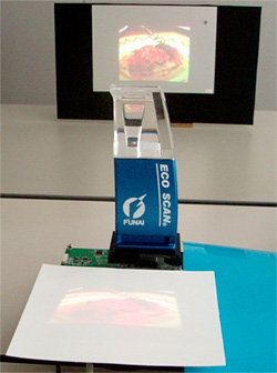 Funai & Nippon's Touch Sensitive Projector (Image courtesy Tech-On!)
