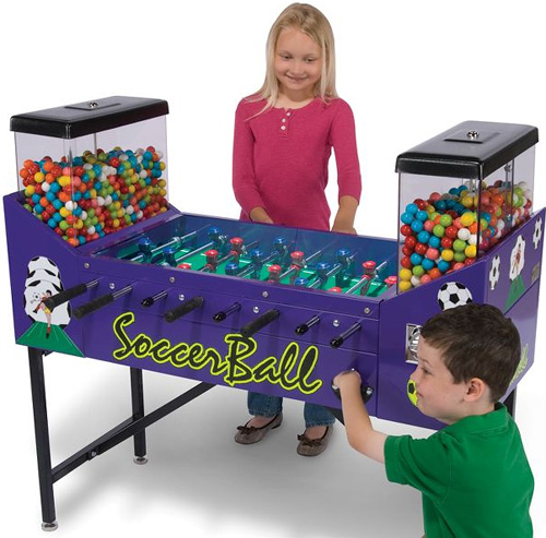 The Only Gumball Foosball (Image courtesy Hammacher Schlemmer)