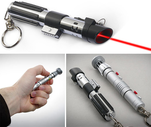 Star Wars Lightsaber Laser Pointer (Images courtesy ThinkGeek)