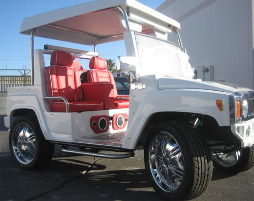 The Royal Cart (Image courtesy Bad Ass Golf Carts)