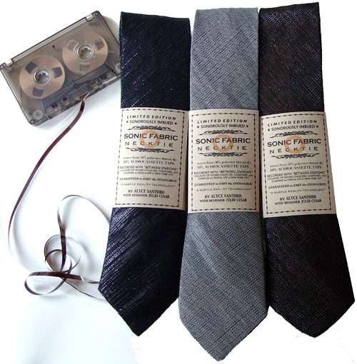 Sonic Fabric Neckties (Image courtesy Supermarket)