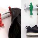 Put Those Retired Foosball Players To Work As Coat Hangers