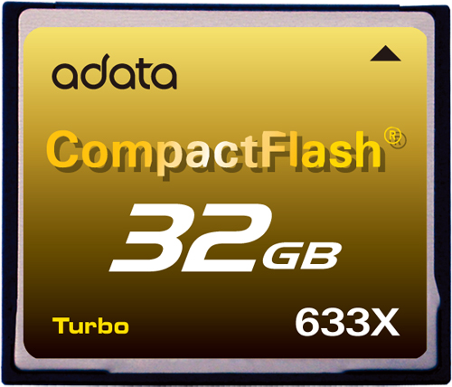 A-DATA CF633X Memory Card (Image courtesy A-DATA)