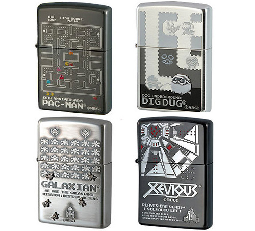 Namco Classic Game Zippo Lighters (Images courtesy NCSX)