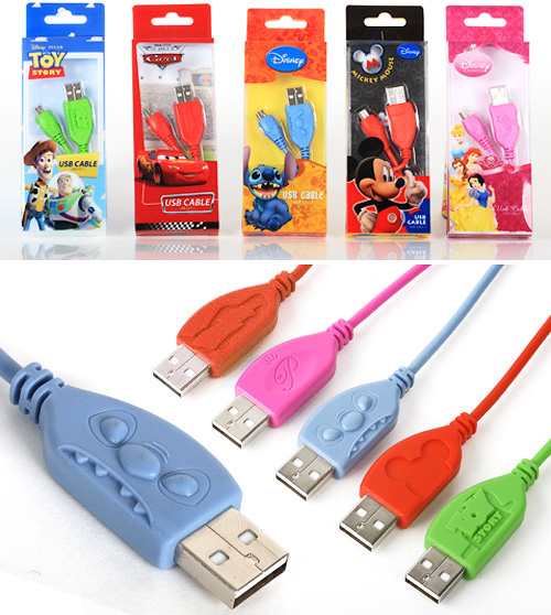 Disney USB Cables (Images courtesy Camino Trading)