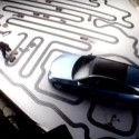 Mercedes-Benz Shows Off The Load Space In Their New E-Class Wagon With Almost A 1/4 Mile Of Slot Car Track