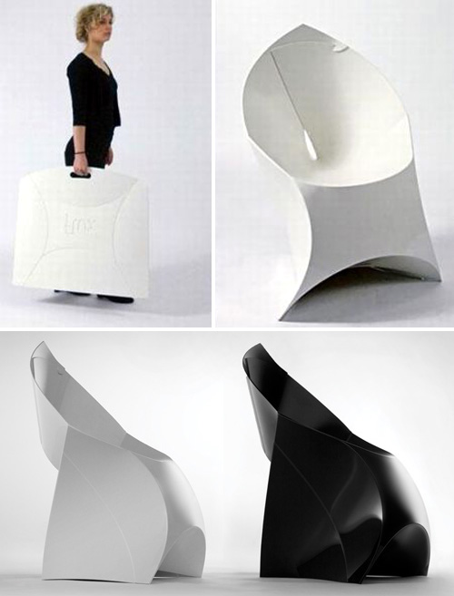 Flux Flat Folding Chairs (Images courtesy Flux)