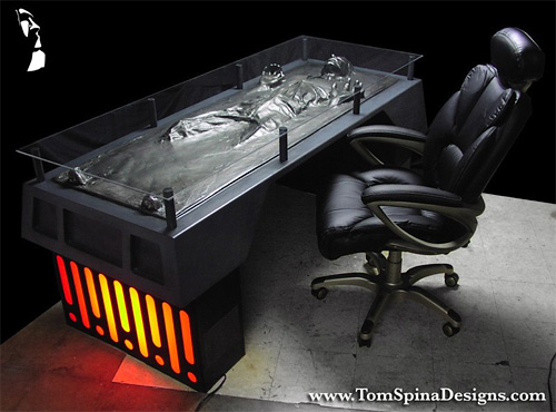 Han Solo Frozen In Carbonite Desk (Image courtesy Tom Spina Designs)