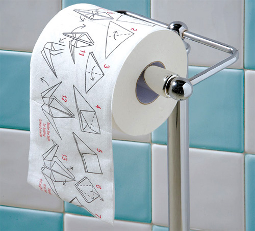Origami Toilet Paper (Image courtesy What On Earth)