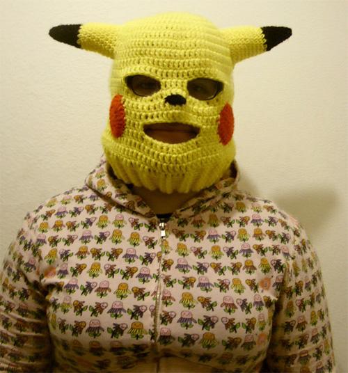 Pikachu convertible ski mask (Image courtesy deviantART)