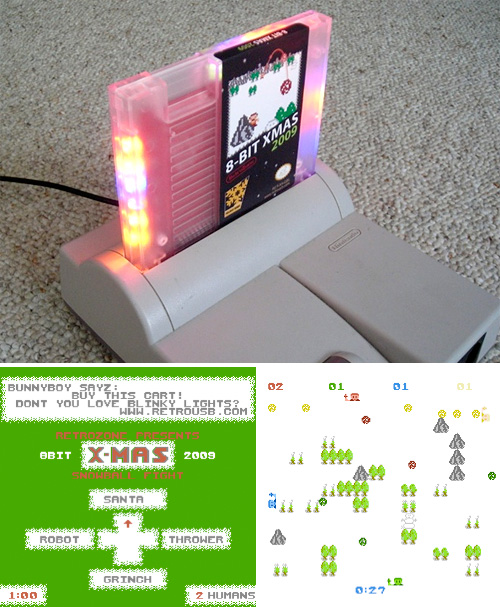 8 BIT XMAS 2009 NES Cart (Images courtesy RetroZone)