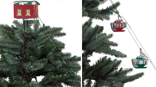 Animated Christmas Tree Cable Cars (Images courtesy The Green Head)