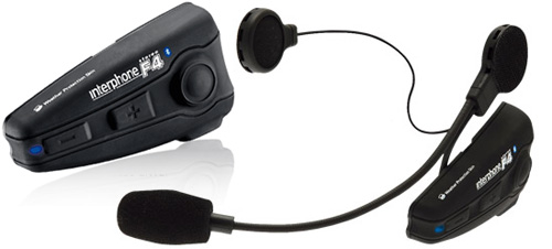 BlueAnt Stereo F4 Interphone Motorcycle Bluetooth Kit (Images courtesy BlueAnt)