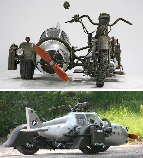 WWII Fighter Plane Sidecar (Images courtesy Henrik Toth)
