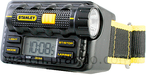 Stanley LED Torch Watch (Image courtesy Brando)