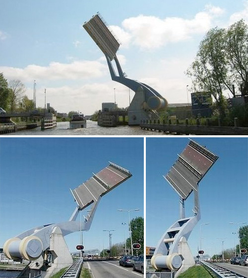 Slauerhoffbrug 'Flying' Drawbridge (Images courtesy frozenly.com)