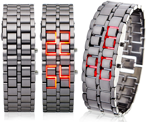 Iron Samurai LED Watch (Images courtesy Chinavasion)