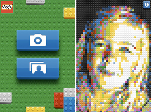 LEGO iPhone App (Images courtesy Gizmodo)